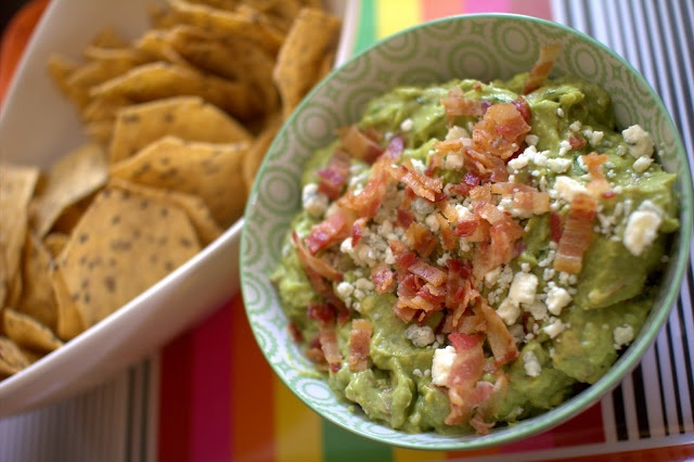 Bacon and Blue Cheese Guacamole | Yummy | Pinterest
