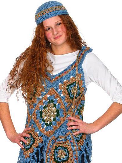 Crochet Ponch Vest, Hat & Bag Pattern