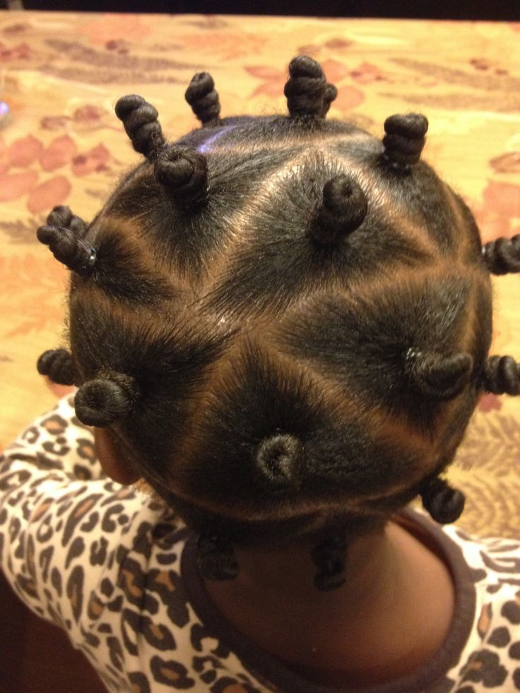 Bantu knots hairstyles for little girl braids