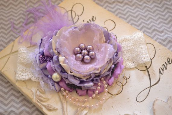 Sugar Plum Fairy Purple Sparkle headband for baby, girl, adult, weddi ...