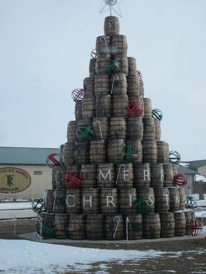 Wine barrel christmas tree it s all about pinterest