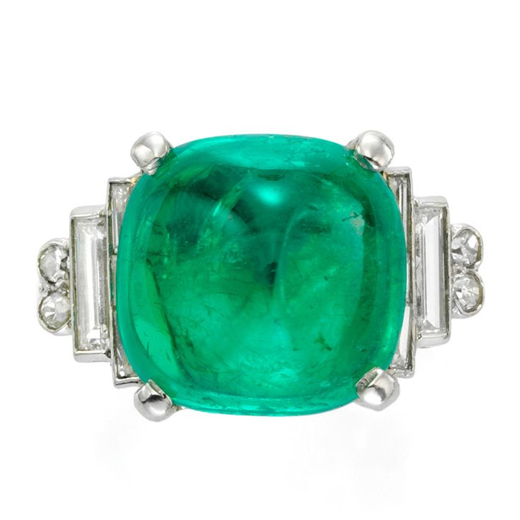 cabochon emerald and ring baubles