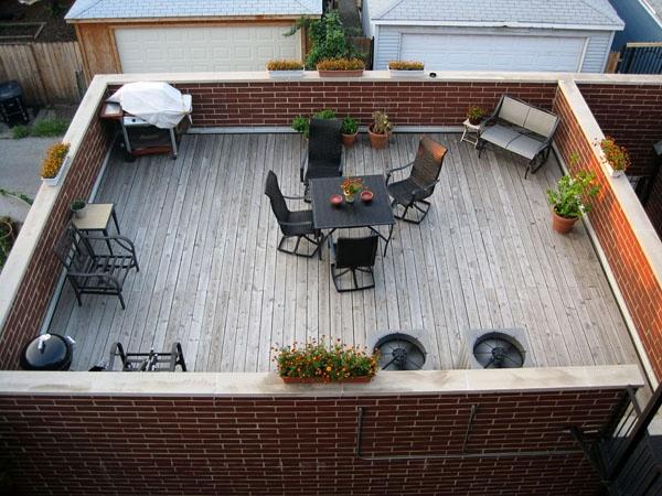 Patio On Garage Roof Rooftop Deck Pinterest