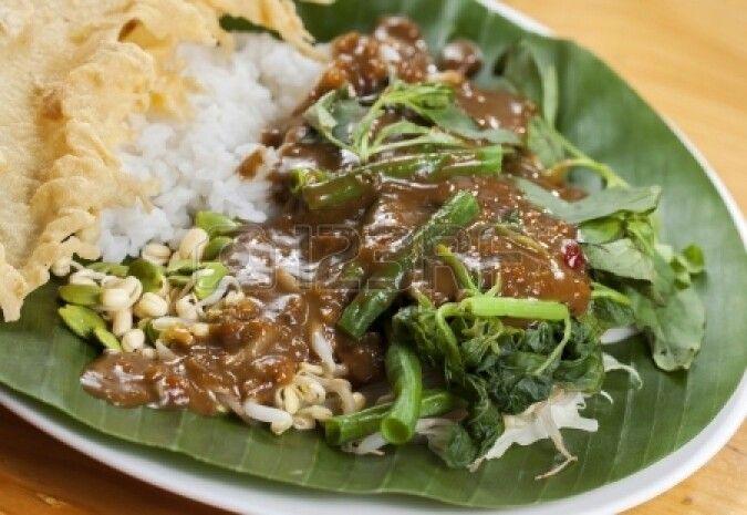 Nasi Pecel from Madiun,Indonesia | Indonesian Food | Pinterest