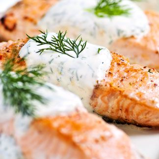 Sugar-seared-salmon with cream sauce | Seafood | Pinterest