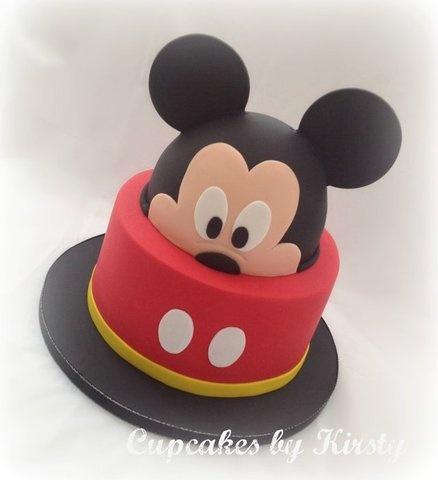 Hey Mickey!  Cake by Kirstywoo.  #MickeyMouseCake #DisneyCakes