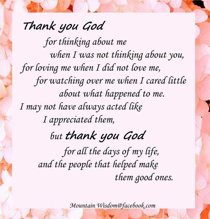 Thank You God Religious Sayings Pinterest