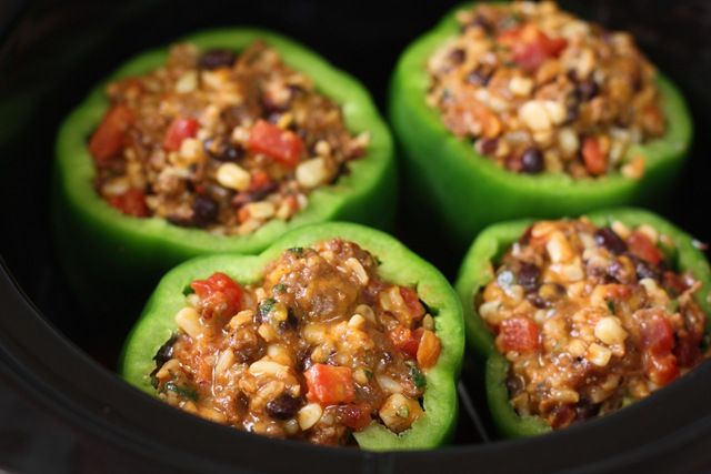 crockpot stuffed peppers. | yummy in me tummy | Pinterest