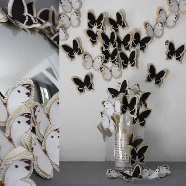 Бабочки своими руками для украшения интерьера