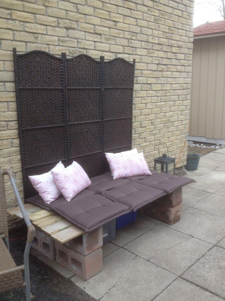 cinder block bench instructions