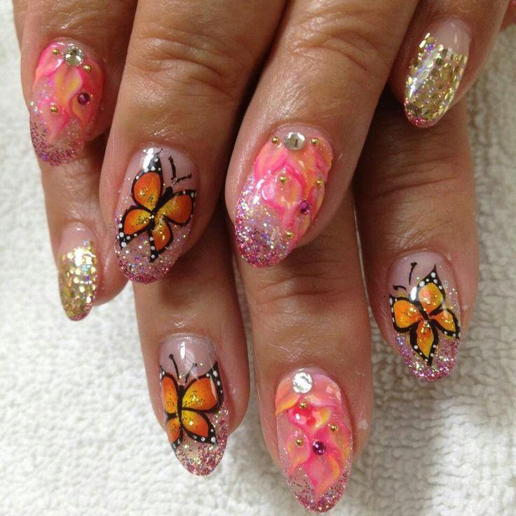 Sculpting gel design, 3d, butterfly | nail art | Pinterest