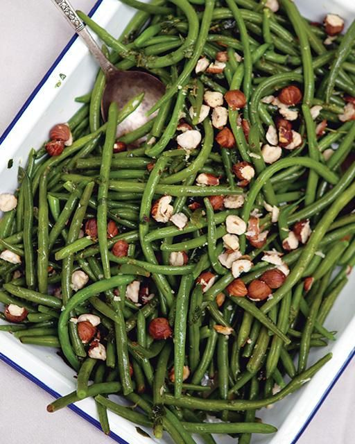Green Bean Salad with Mint & Hazelnuts via Sweet Paul
