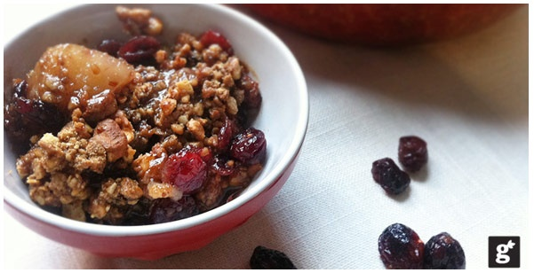 Cranberry Pear Crisp recipe from Trader Joes - looks yummy!!
