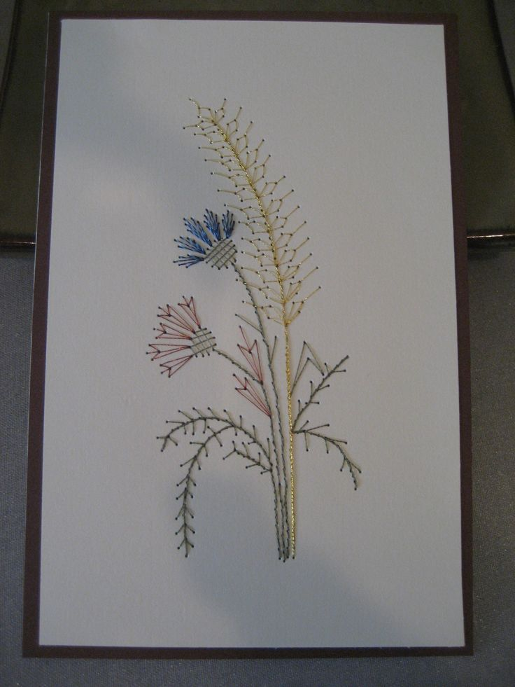 Embroidery On Paper By Lynn | Paper Embroidery | Pinterest