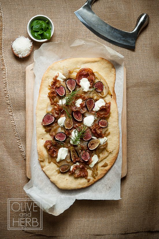 Fig & Pancetta Flatbread with Goat Cheese | Recipe