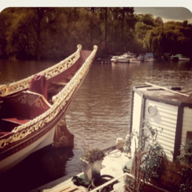 The royal barge.