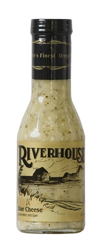 RIVERHOUSE Blue Cheese salad dressing. Best.Blue.Cheese.Dressing.EVER. Made in Pacific City, Oregon, on the coast (Consumables / USA / O)