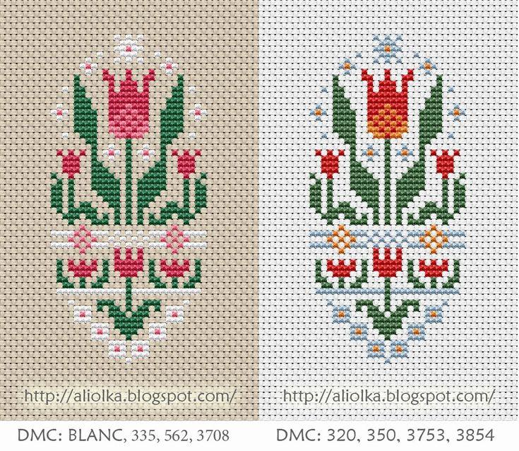 free cross stitch pattern - Russian