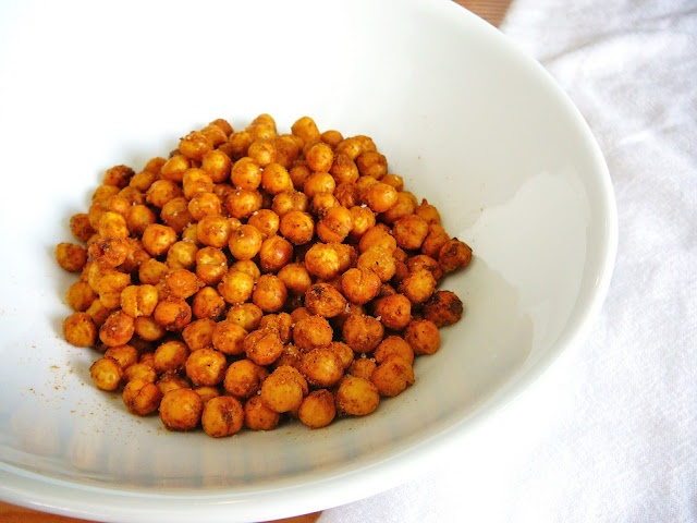 Roasted Curried Chickpeas | Savory Mouth BITES~~~ | Pinterest