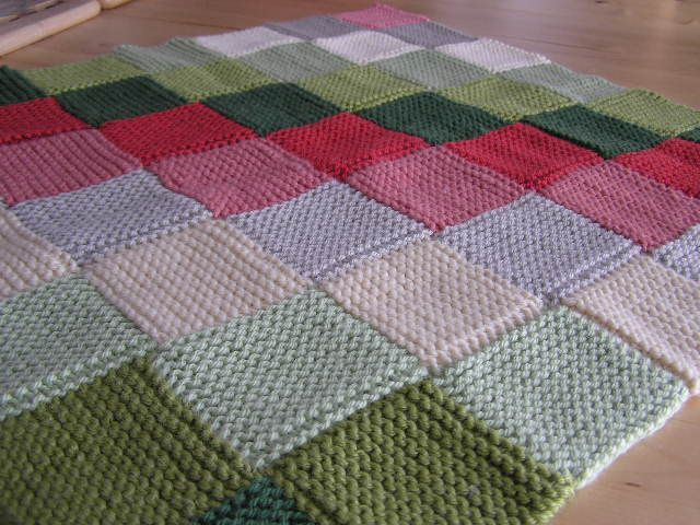 Knitting Pattern Garter Stitch Afghan : Garter Stitch Baby Blanket