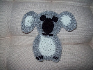 Cats-Rockin-Crochet Fibre Artist.: Crochet Koala Applique, free ...