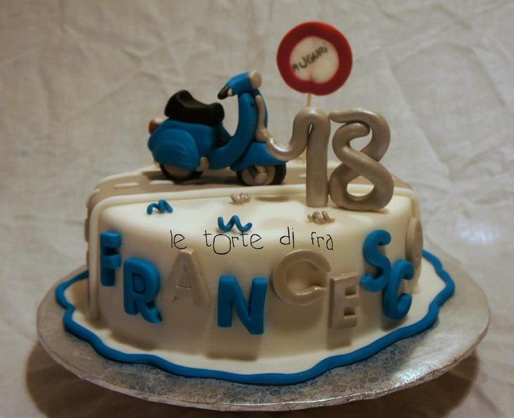 Vespa Cake  MyCakes  Pinterest