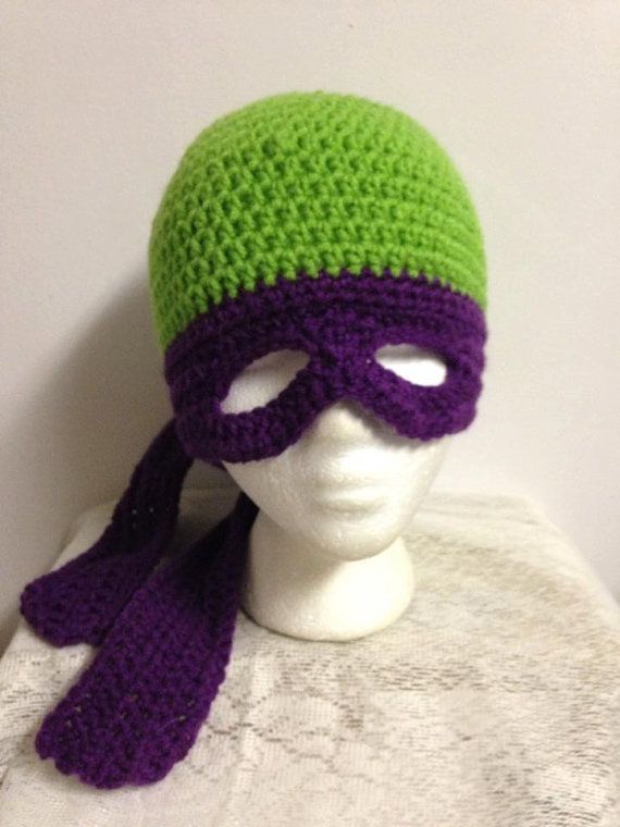 Crochet Pattern For A Turtle Hat : Crochet Ninja Turtle Hat