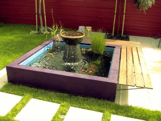 Small koi pond gardening pinterest for Mini fish pond