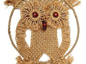 Птицы из узелков: совы макраме для вдохновения. | Ярмарка Мастеров - ручная работа, handmade
