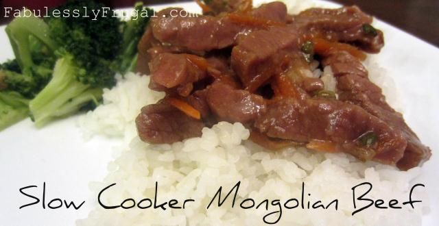 Slow Cooker Mongolian Beef. Put it all in a bag, freeze it, then thaw ...