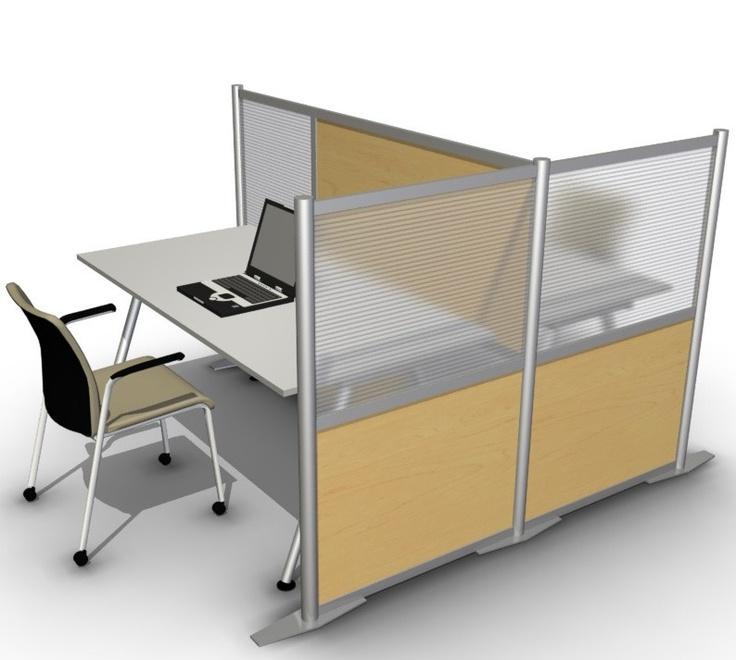 75 L X 35 W X 35 W X 51 H Office Partition Maple Wood
