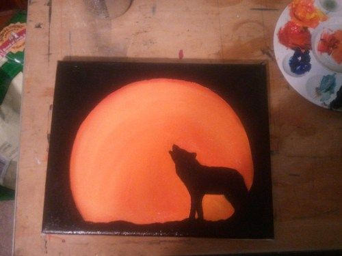 Howl at the Moon Acrylic Painting