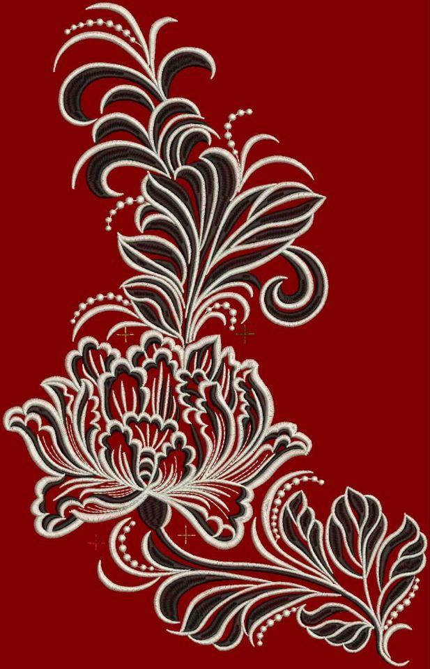 Дизайн губы машинной вышивки 14