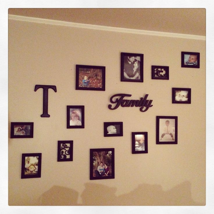 Family Photo Wall Photo Ideas Pinterest