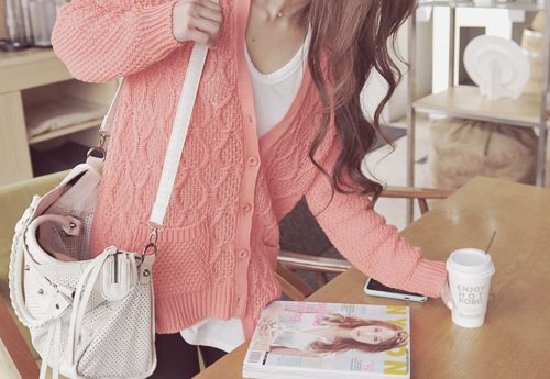 Coral pink sweater