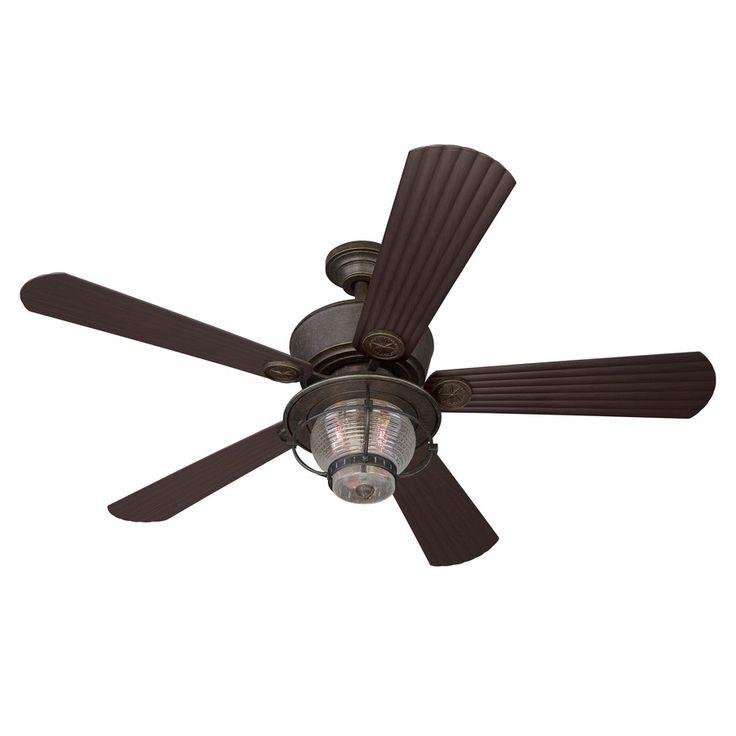 Shop Harbor Breeze 52-in Merrimack Gilded Bronze Outdoor Ceiling Fan ...
