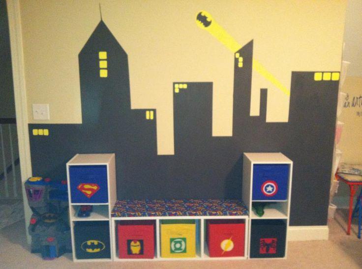 Owen39s superhero playroom inspired by Pinterest