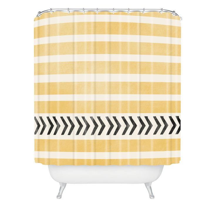 LOVE bright shower curtains! Yellow Stripes And Arrows Shower Curtain ...