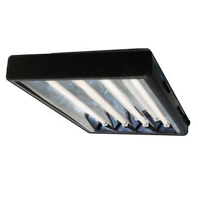 ft 4 bulb t5 high output copper fluorescent grow light fixture. Black Bedroom Furniture Sets. Home Design Ideas