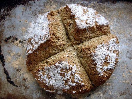 Oat-soda bread...looks yum and healthy! | Egg less Baking | Pinterest