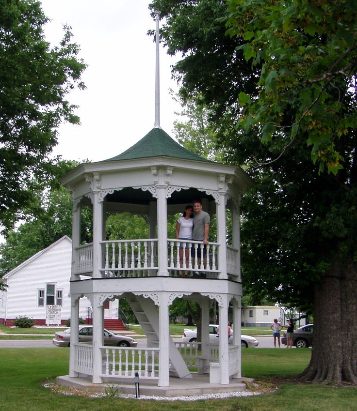 Two story gazebo decks and gazebos pinterest for Decks and gazebos