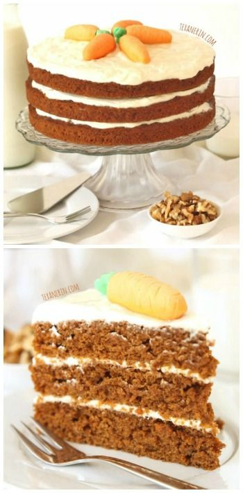 This 100% Whole Wheat Carrot Cake is incredibly moist and nobody will ...