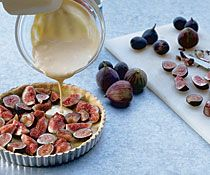 Fresh Fig Tart with Orange Flower Custard | Recipe
