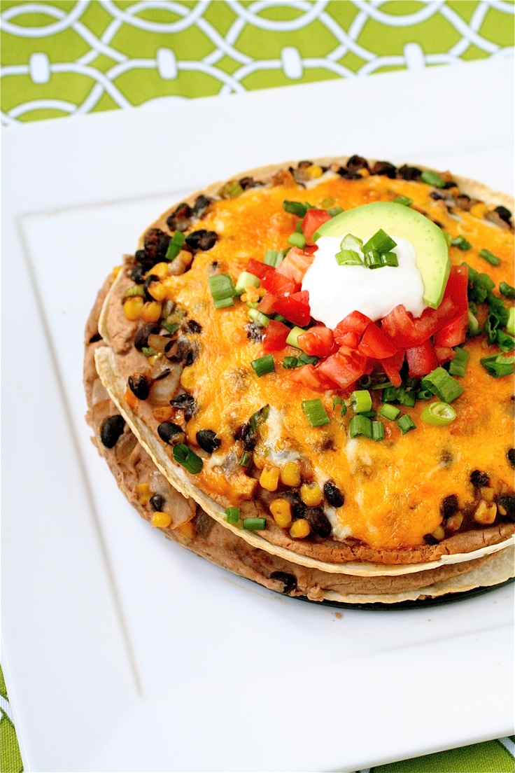 "Bean and Tortilla ""Pie"" | Healthy Meals | Pinterest"
