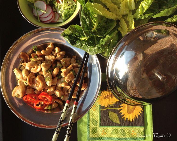 Chicken & Cashew Lettuce Wraps | JJ Virgin | Pinterest
