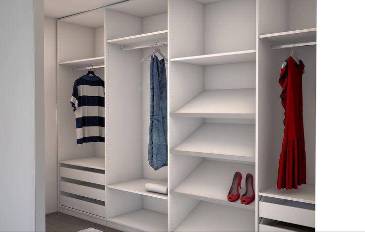 begehbarer kleiderschrank mit viel platz f r kleider hemden und schuhe hier geht es direkt zu. Black Bedroom Furniture Sets. Home Design Ideas