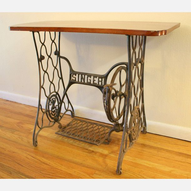 Vintage singer sewing machine table - Singer sewing machine table ...