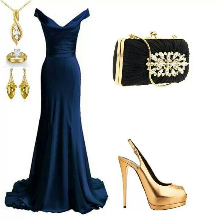 Midnight blue and gold evening gown pageant pinterest