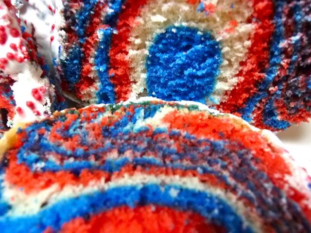 red white amp blue zebra bundt cake with cherry glaze for memorial day