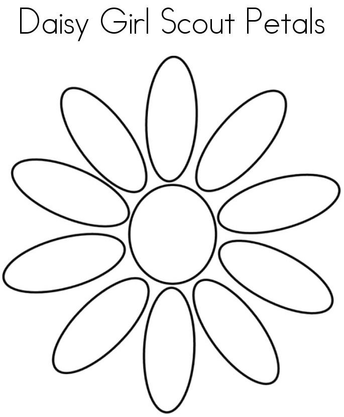 daisy girls scouts coloring pages - photo #47